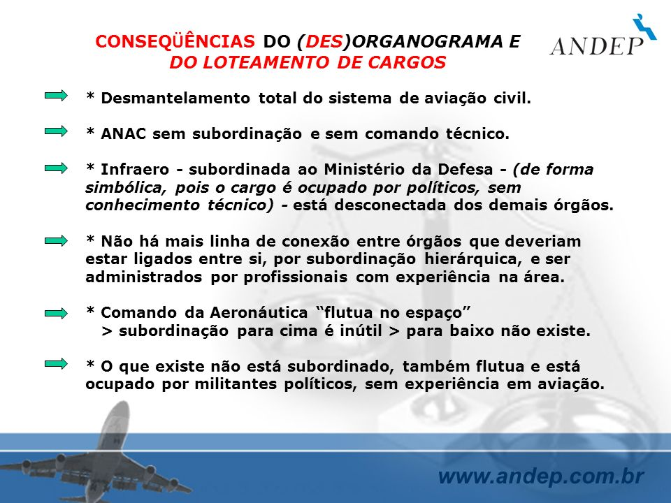 CONSEQÜÊNCIAS DO (DES)ORGANOGRAMA E DO LOTEAMENTO DE CARGOS
