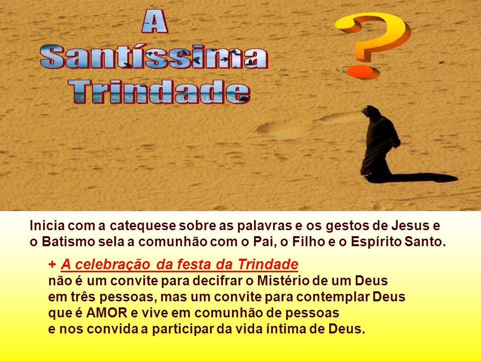 Inicia com a catequese sobre as palavras e os gestos de Jesus e