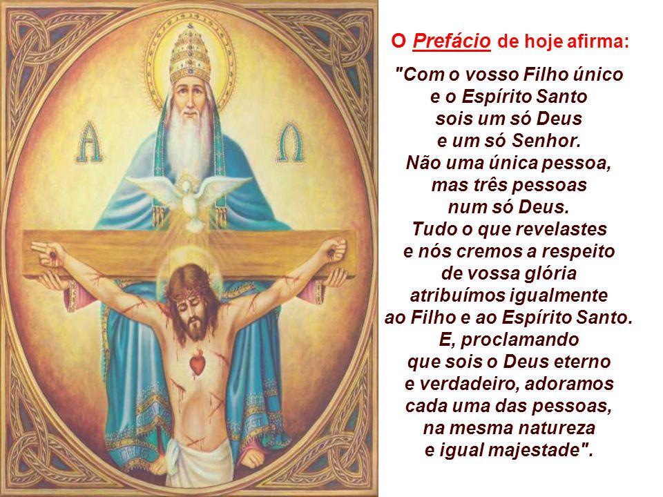 atribuímos igualmente ao Filho e ao Espírito Santo.