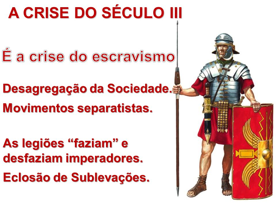 A CRISE DO SÉCULO III É a crise do escravismo