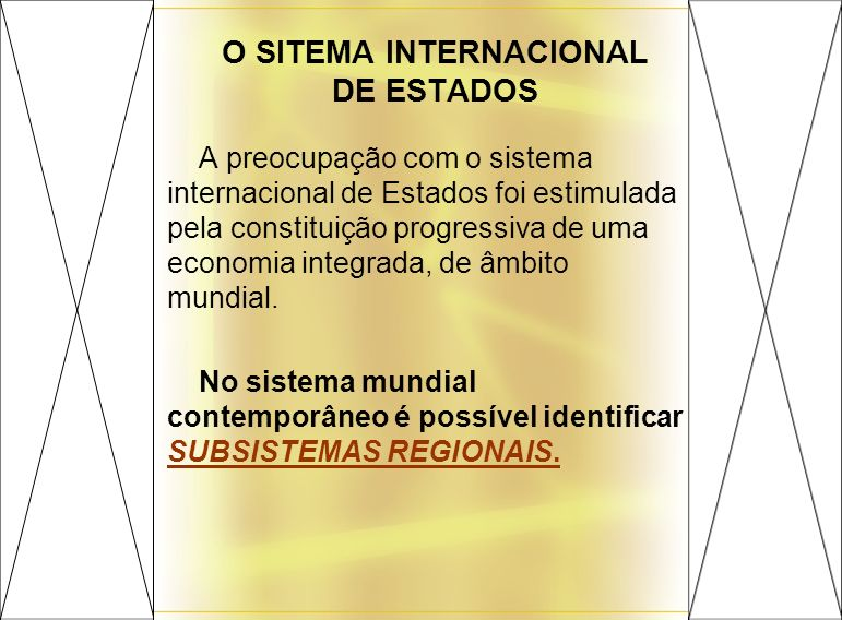 O SITEMA INTERNACIONAL DE ESTADOS