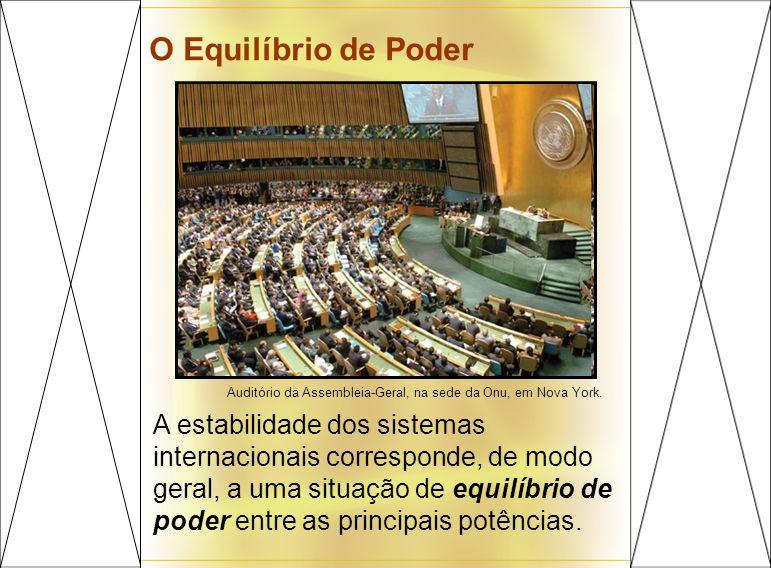 O Equilíbrio de Poder Auditório da Assembleia-Geral, na sede da Onu, em Nova York.