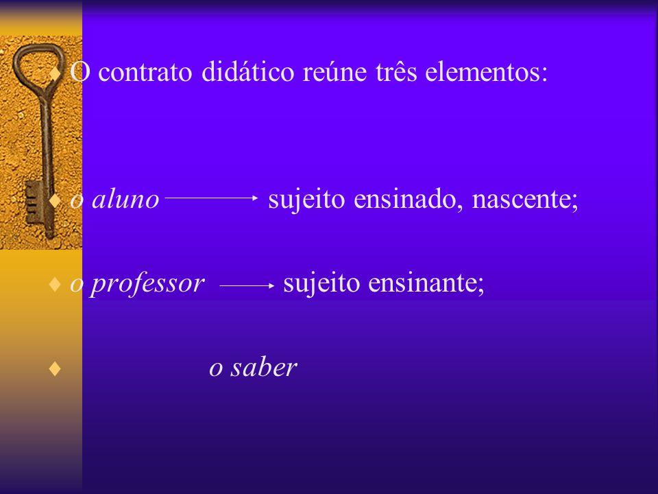 O contrato didático reúne três elementos: