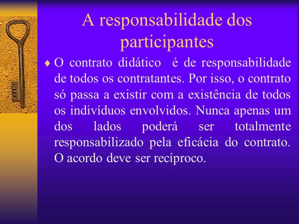 A responsabilidade dos participantes
