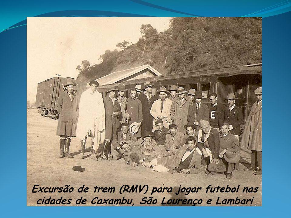 Excursão de trem (RMV) para jogar futebol nas cidades de Caxambu, São Lourenço e Lambari