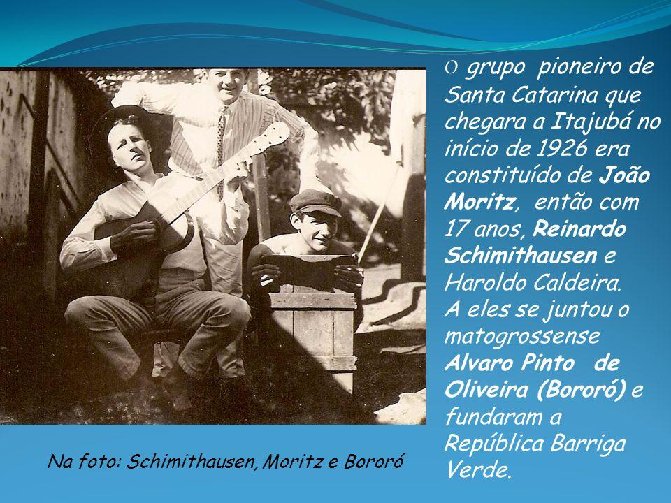 Na foto: Schimithausen, Moritz e Bororó
