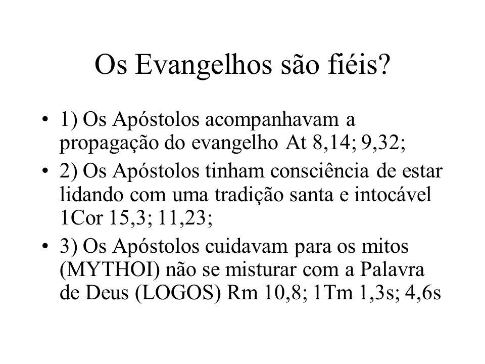 Os Evangelhos são fiéis