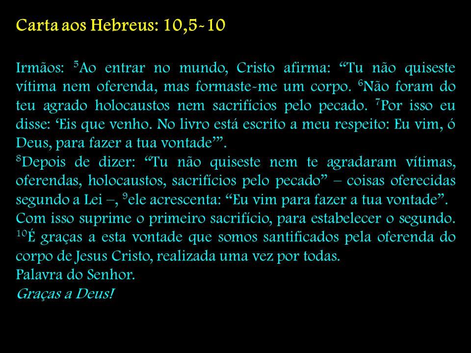 Carta aos Hebreus: 10,5-10