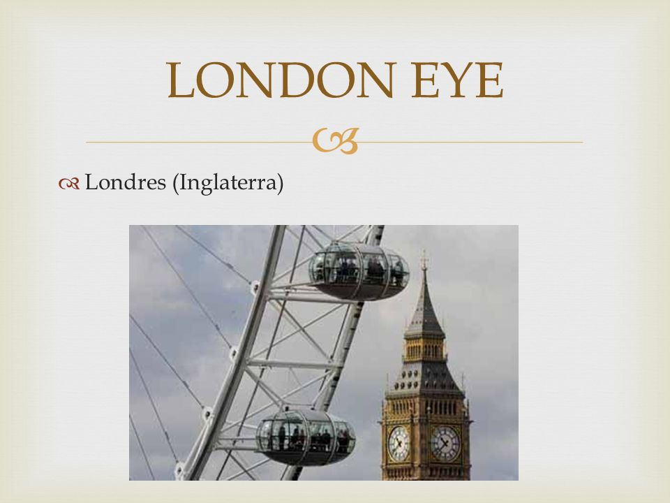LONDON EYE Londres (Inglaterra)