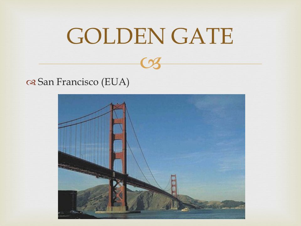 GOLDEN GATE San Francisco (EUA)