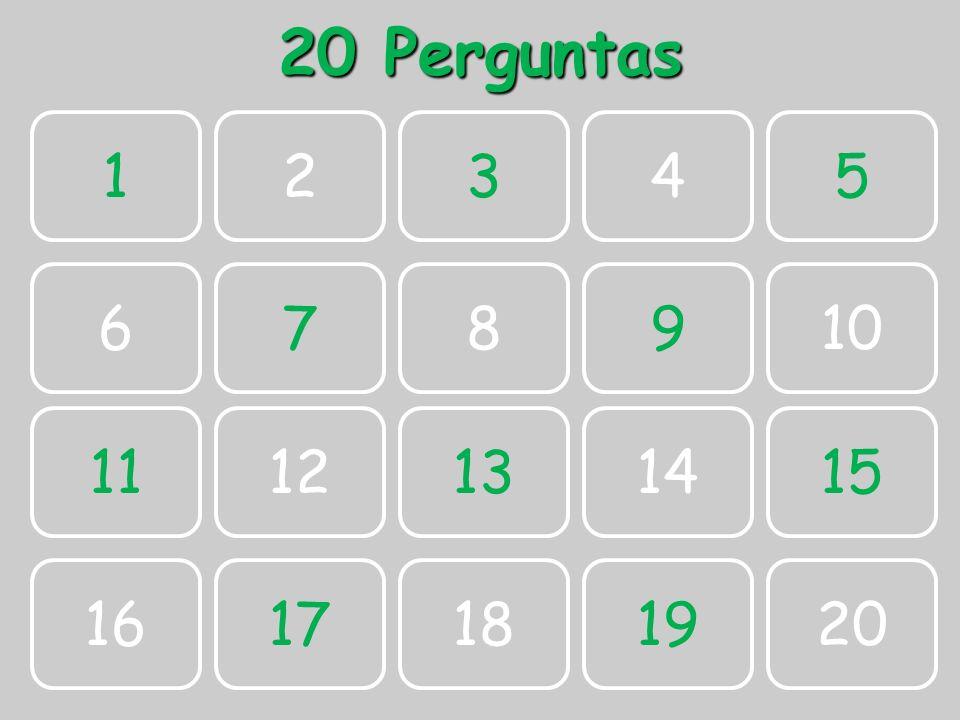 20 Perguntas 1 2 3 4 5 6 7 8 9 10 11 12 13 14 15 16 17 18 19 20