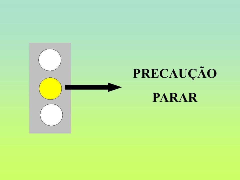 PRECAUÇÃO PARAR