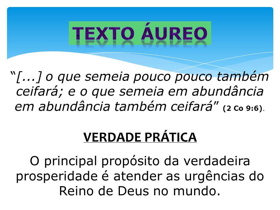 Texto áureo VERDADE PRÁTICA