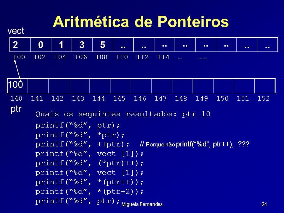Aritmética de Ponteiros