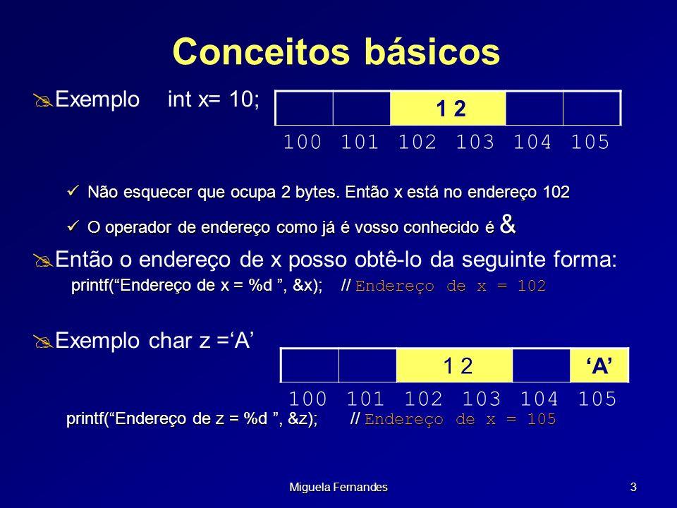 Conceitos básicos Exemplo int x= 10;