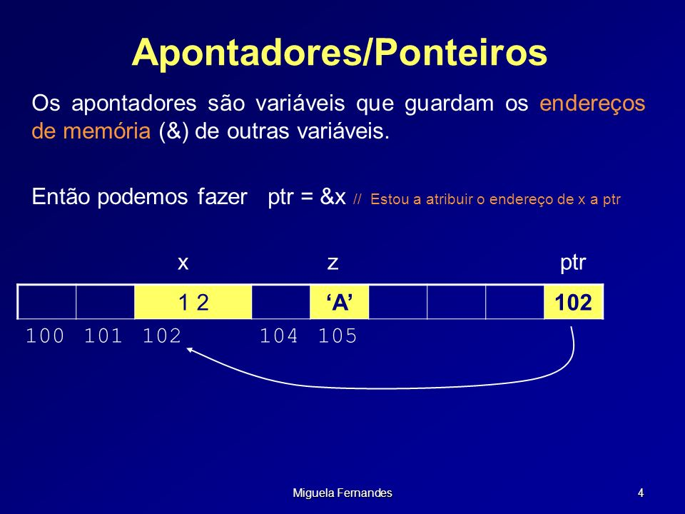 Apontadores/Ponteiros