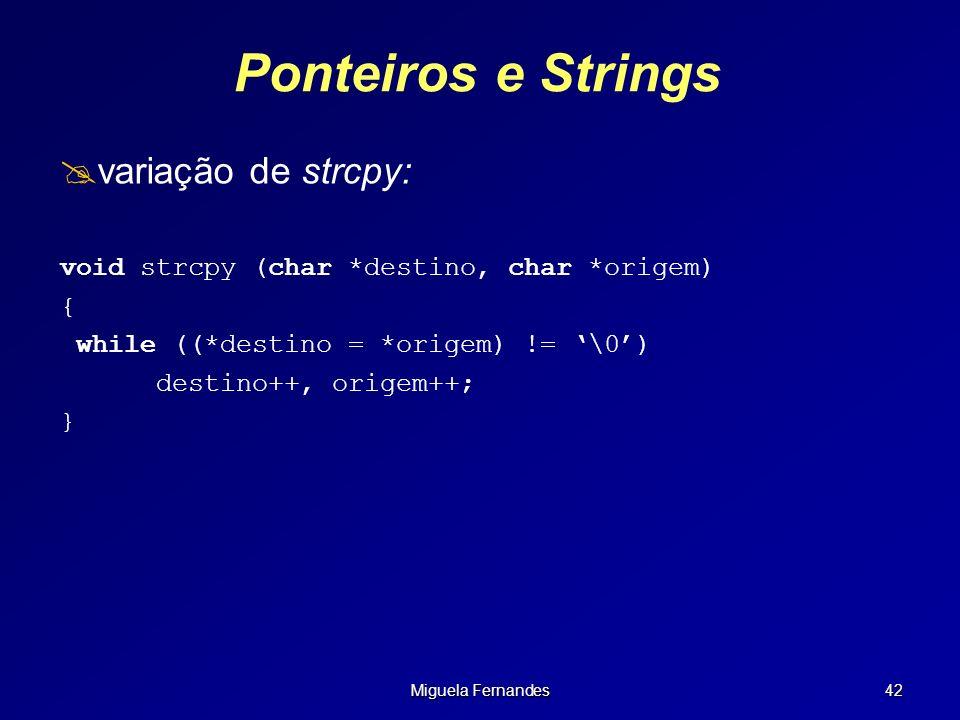 Ponteiros e Strings variação de strcpy: