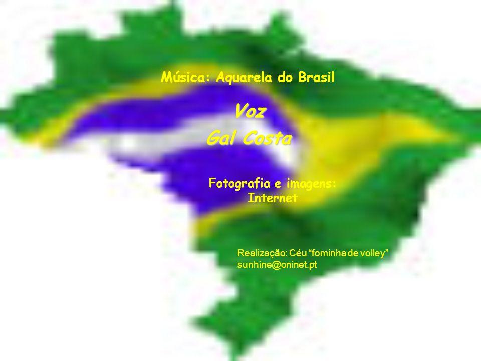 Música: Aquarela do Brasil Fotografia e imagens: Internet