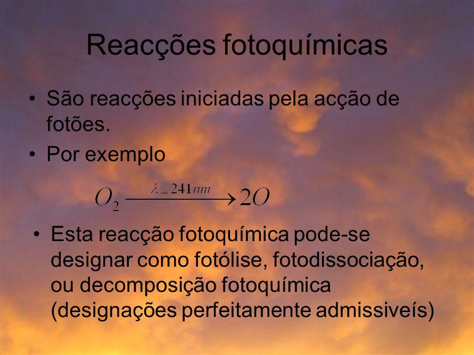 Reacções fotoquímicas