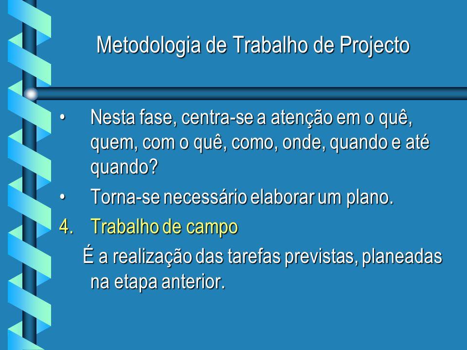 Metodologia de Trabalho de Projecto