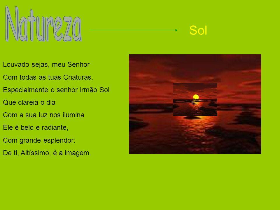 Natureza Sol Louvado sejas, meu Senhor Com todas as tuas Criaturas.