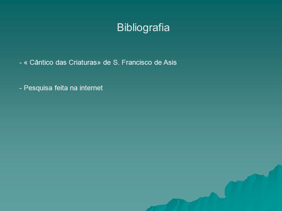Bibliografia - « Cântico das Criaturas» de S. Francisco de Asis