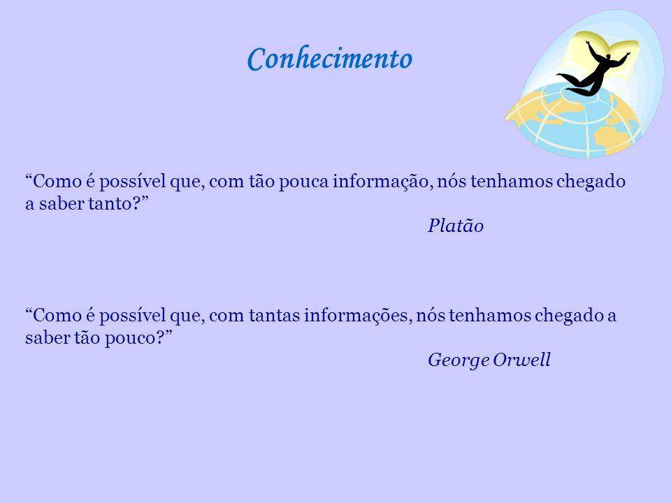 Conhecimento Como é possível que, com tão pouca informação, nós tenhamos chegado a saber tanto Platão.
