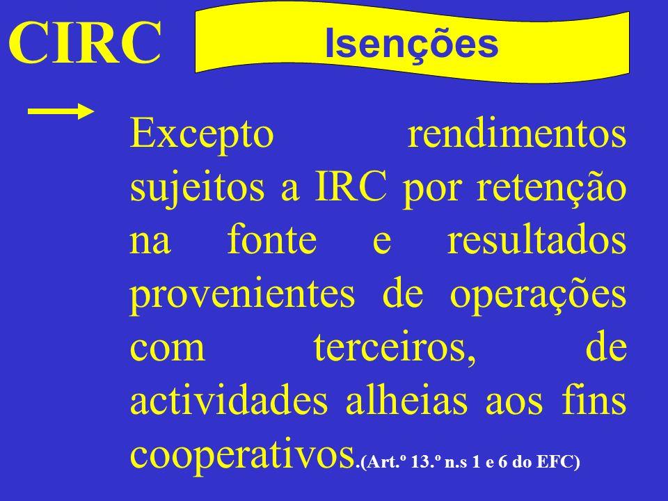 CIRC Isenções.