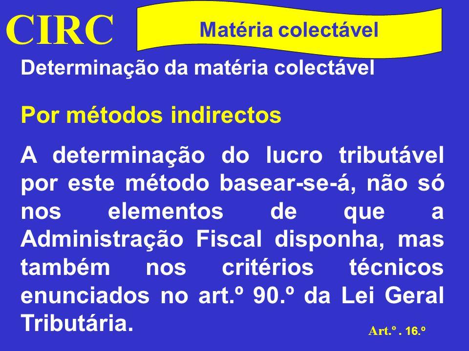 CIRC Por métodos indirectos