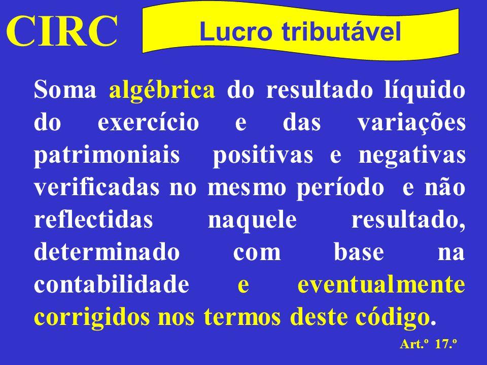 CIRC Lucro tributável.