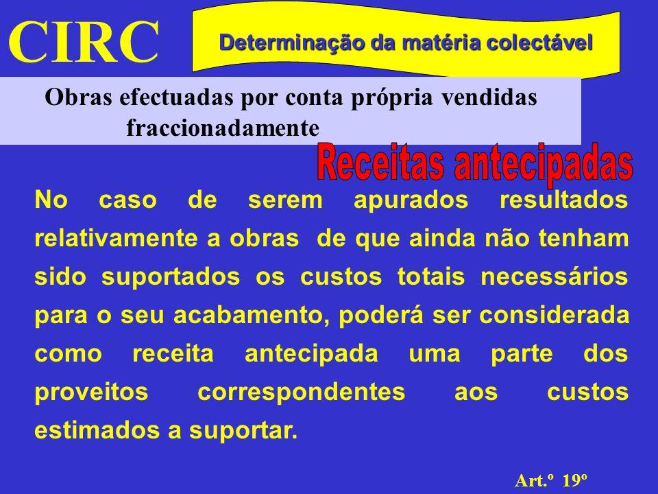 CIRC Receitas antecipadas