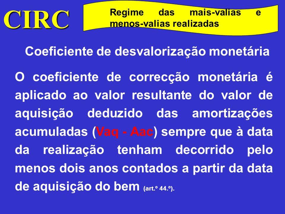 Coeficiente de desvalorização monetária