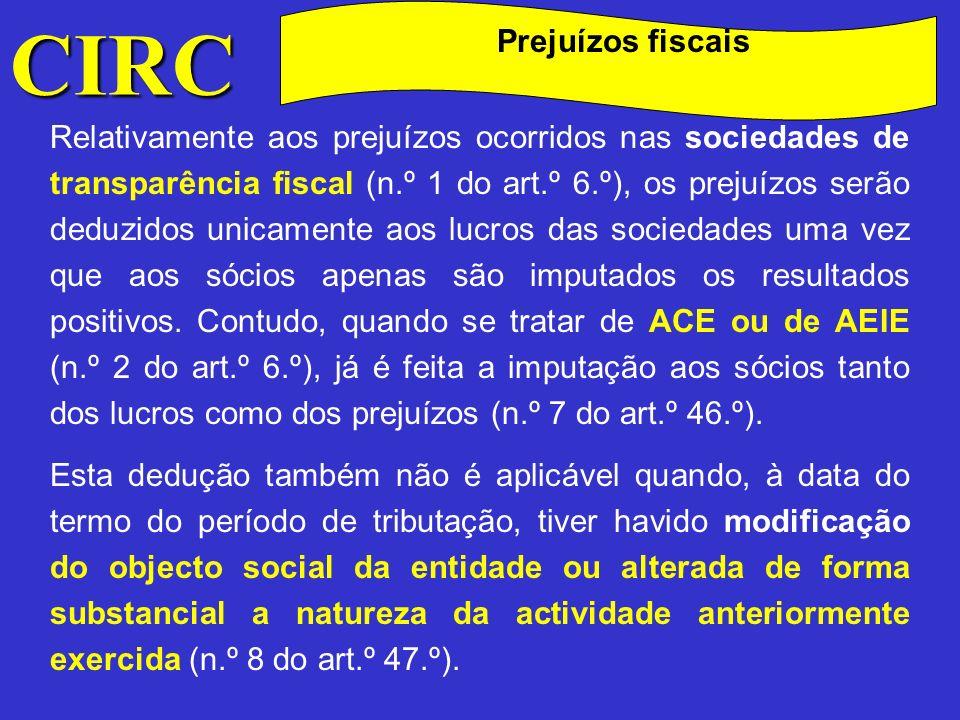 CIRC Prejuízos fiscais