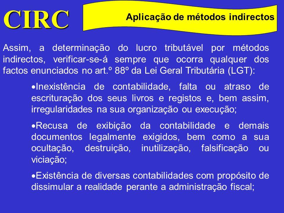 CIRC Aplicação de métodos indirectos
