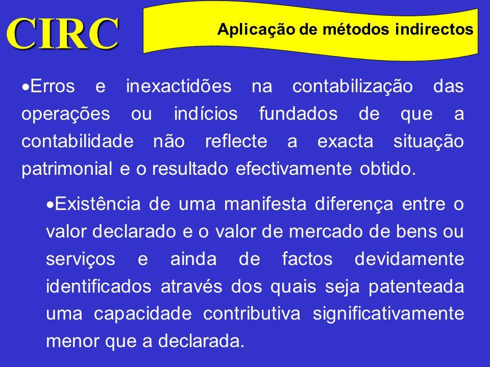 CIRC Aplicação de métodos indirectos.