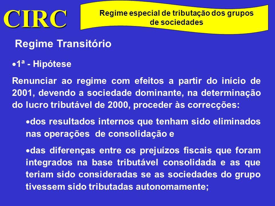 Regime especial de tributação dos grupos de sociedades