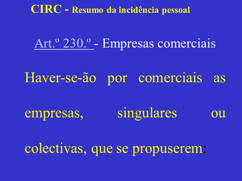 Art.º 230.º - Empresas comerciais