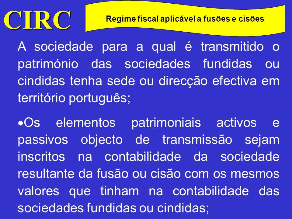 Regime fiscal aplicável a fusões e cisões