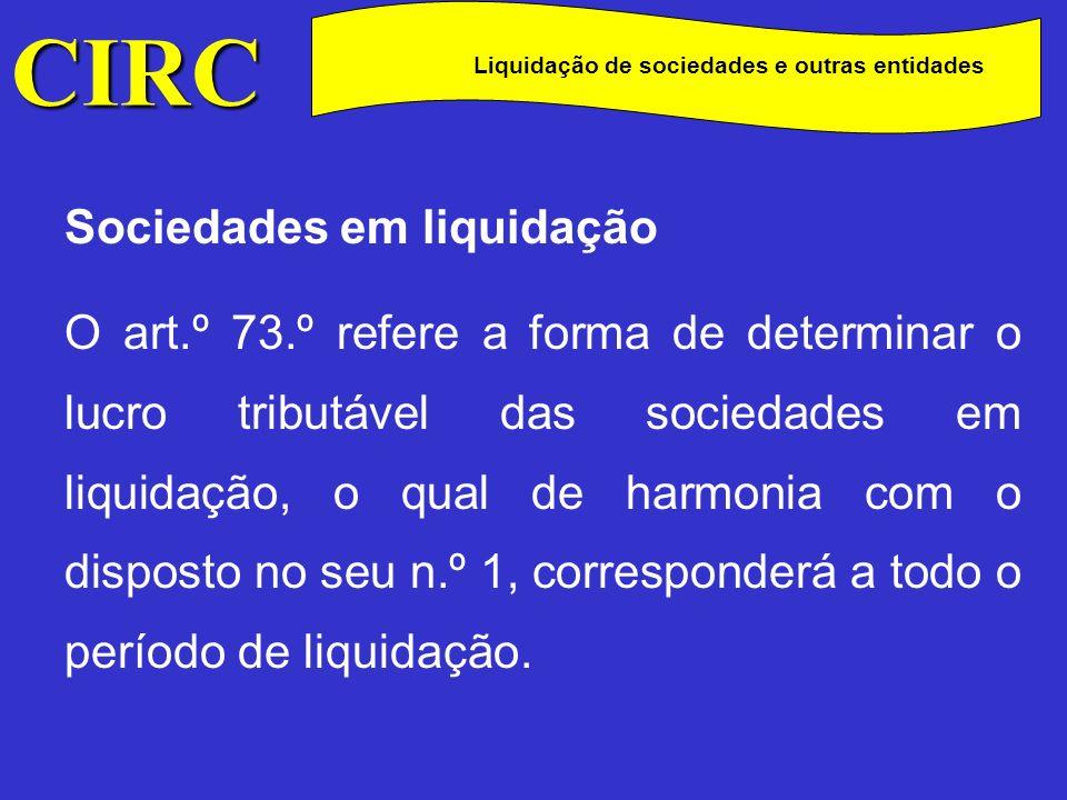 Liquidação de sociedades e outras entidades