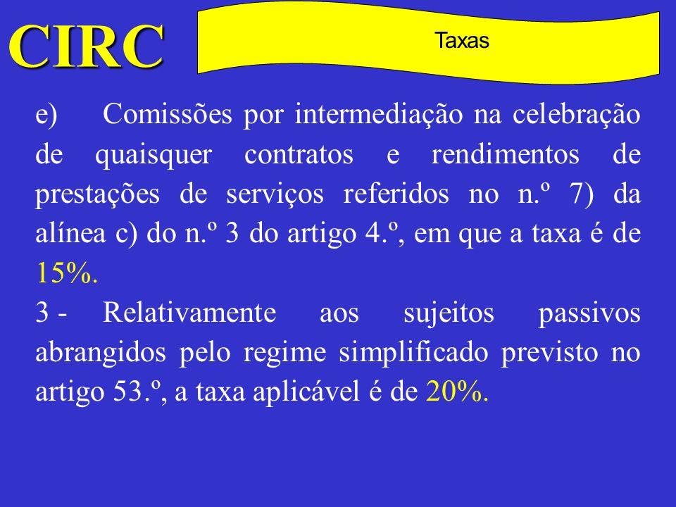 CIRC C. Taxas.