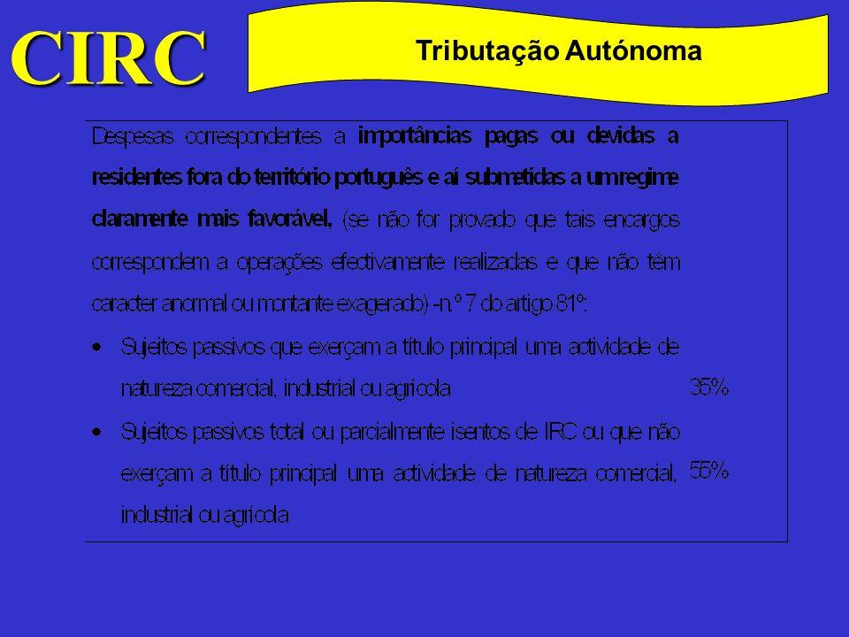 CIRC C Tributação Autónoma