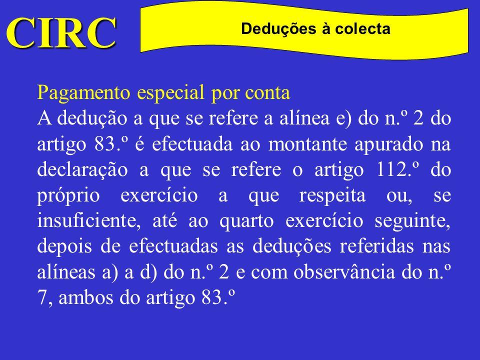 C CIRC Pagamento especial por conta