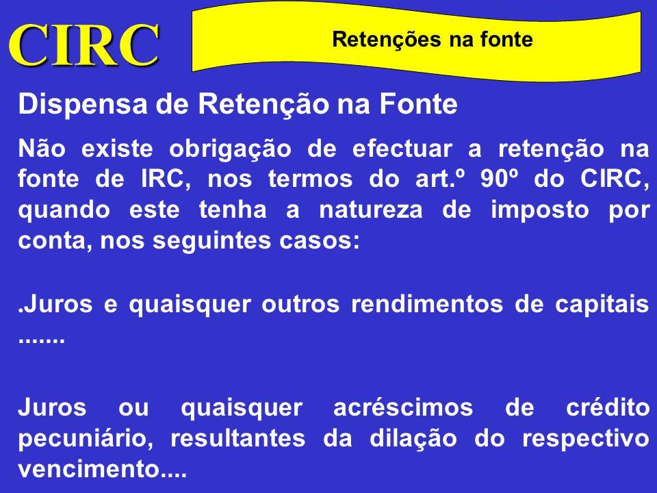 C CIRC Dispensa de Retenção na Fonte