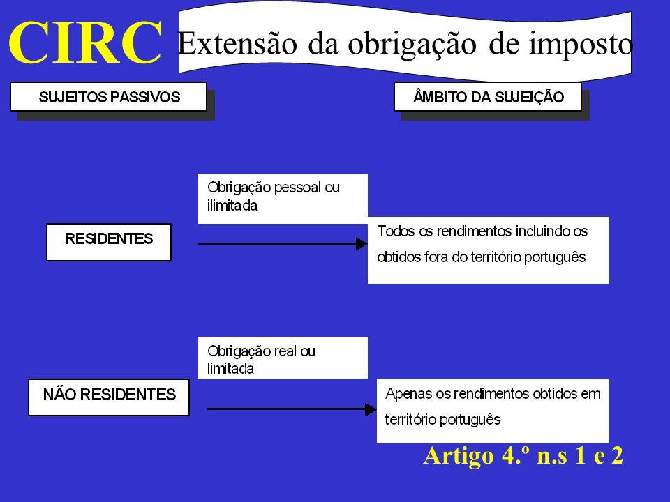 Extensão da obrigação de imposto