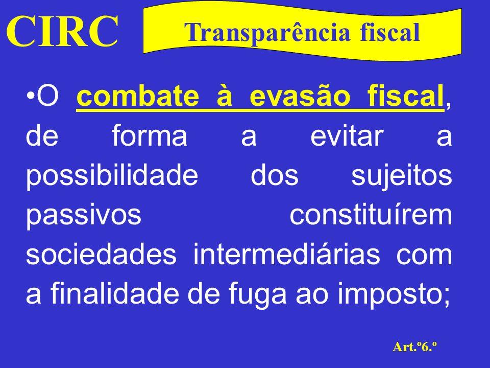 CIRC Transparência fiscal.