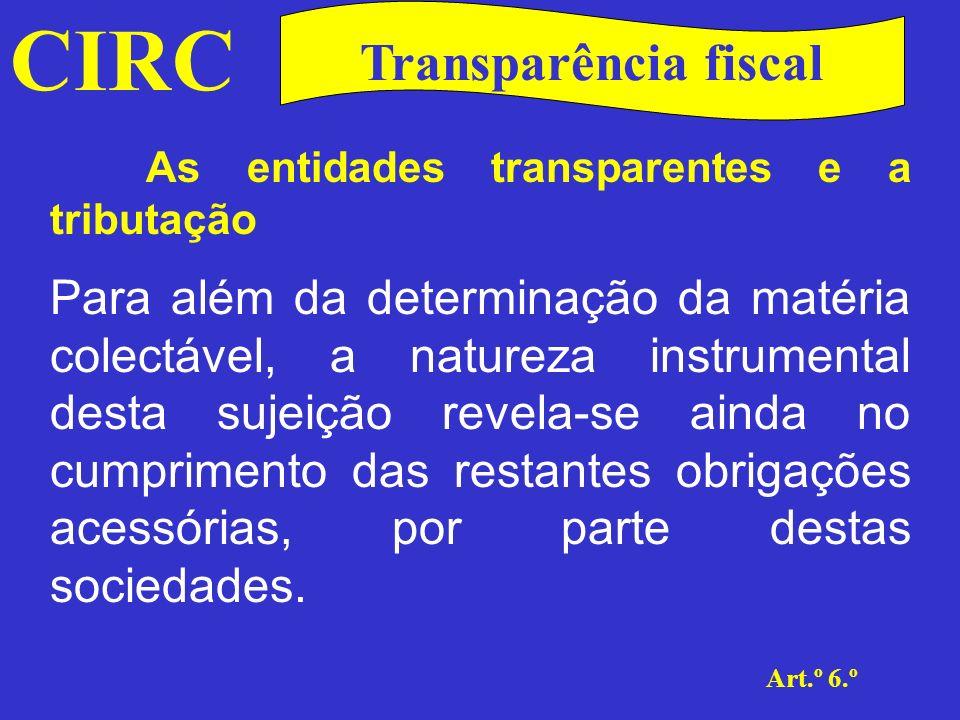 CIRC Transparência fiscal