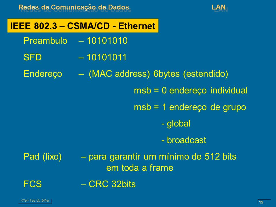 IEEE 802.3 – CSMA/CD - Ethernet