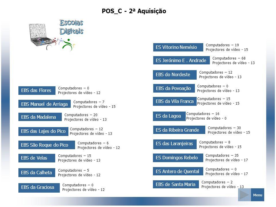 POS_C - 2ª Aquisição ES Vitorino Nemésio ES Jerónimo E . Andrade