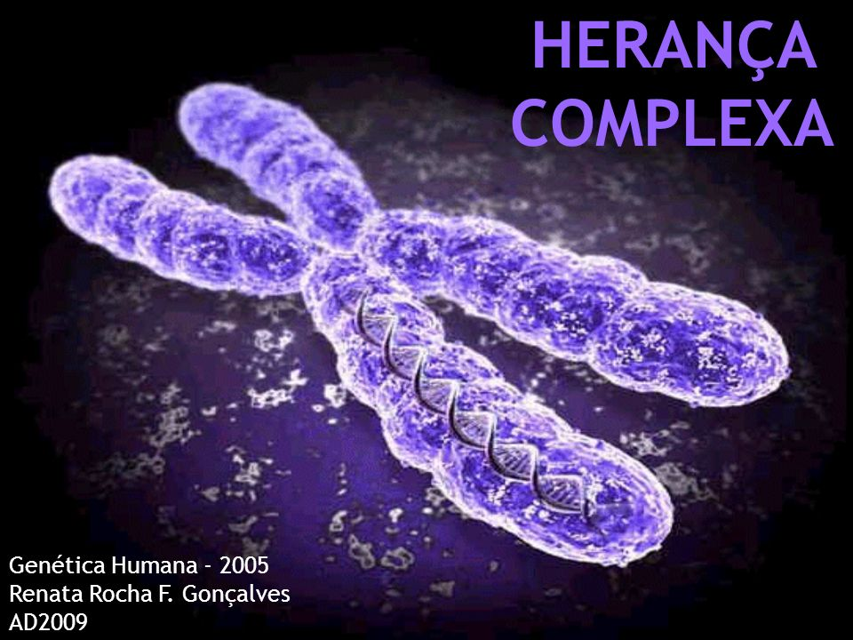 HERANÇA COMPLEXA Genética Humana - 2005 Renata Rocha F. Gonçalves