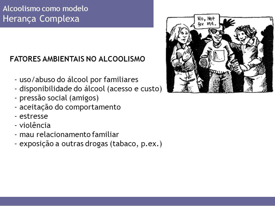 Herança Complexa Alcoolismo como modelo